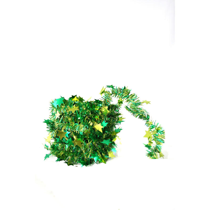 green/ivy mini star garland 5m