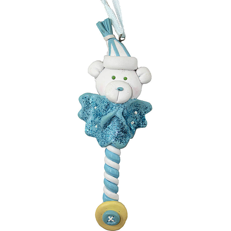 14CM baby BLUE RATTLE