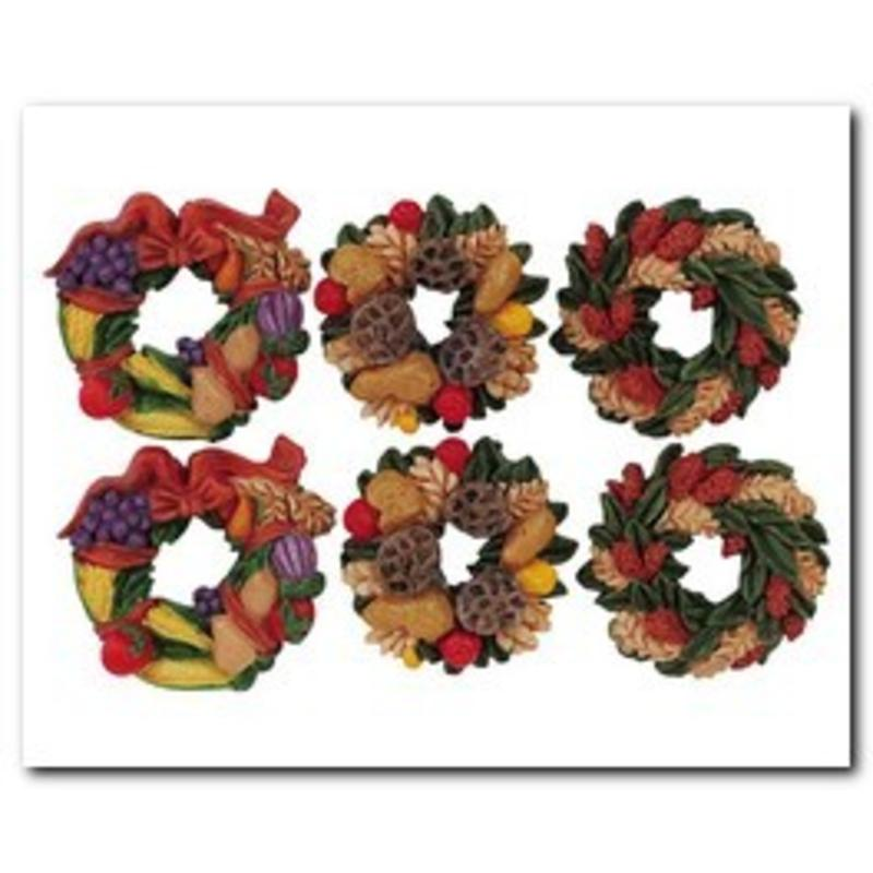 Autumn Wreaths, Set Of 6