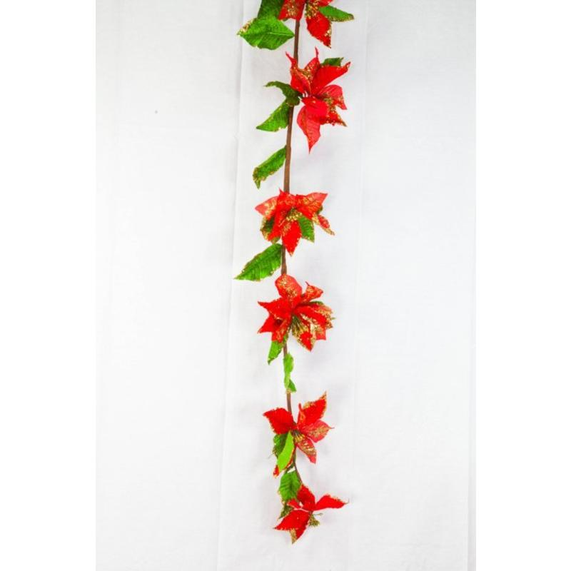Poinsettia Garland 1.6m