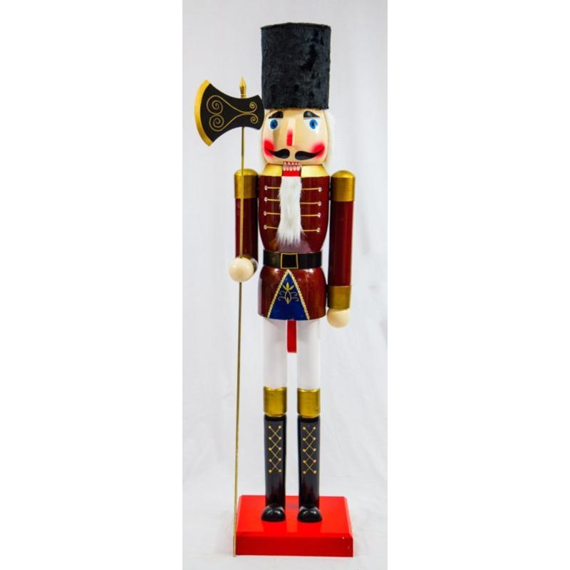 Burgundy Soldier Nutcracker 180cm